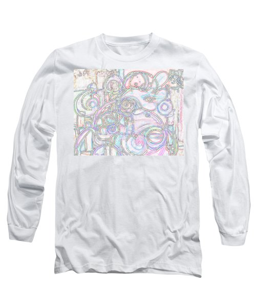 Light Circular Chicken Long Sleeve T-Shirt