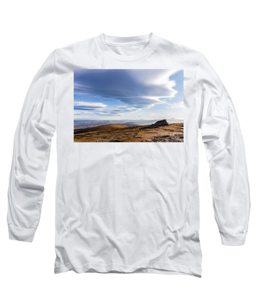 Lightfall On Djouce Mountain Summit Long Sleeve T-Shirt by Semmick Photo