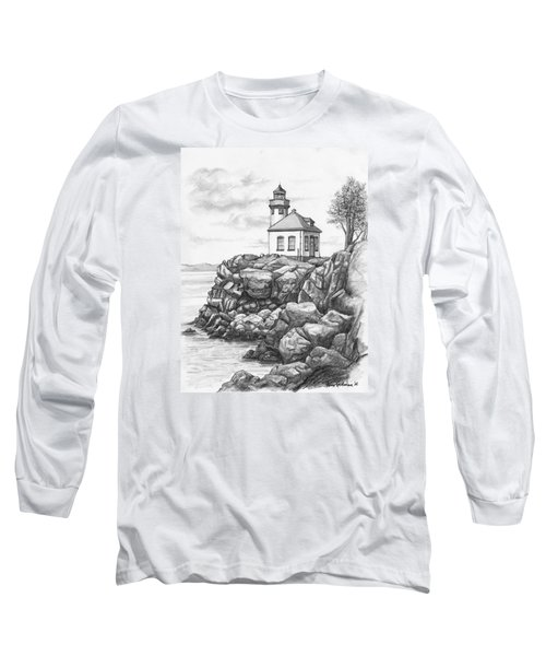 Lime Kiln Lighthouse Long Sleeve T-Shirt by Kim Lockman