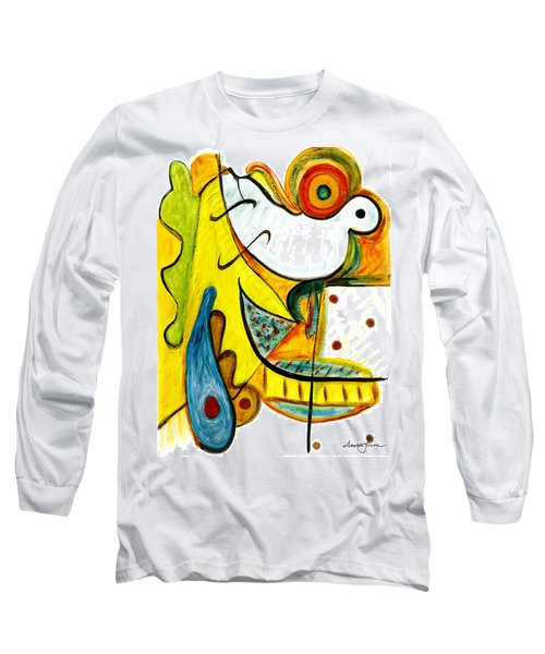 Long Sleeve T-Shirt featuring the painting Linda Paloma by Stephen Lucas