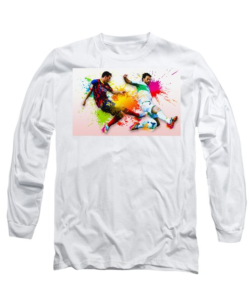 Lionel Messi Of Fc Barcelona Long Sleeve T-Shirt