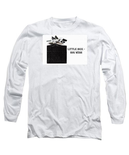 Long Sleeve T-Shirt featuring the photograph Black Present With A Silver Bow by Vizual Studio