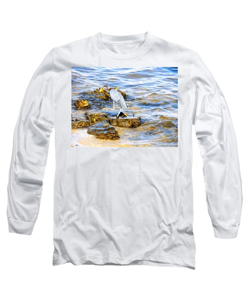 Little Blue Heron Long Sleeve T-Shirt