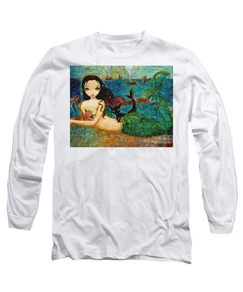 Little Mermaid Long Sleeve T-Shirt by Shijun Munns