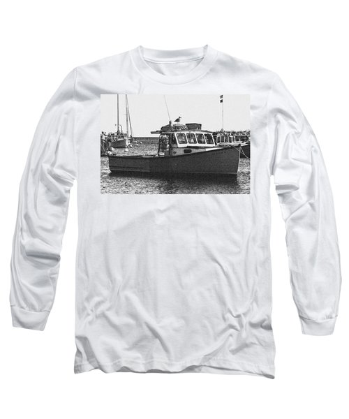 Lobster Boat Long Sleeve T-Shirt by Fred Larson