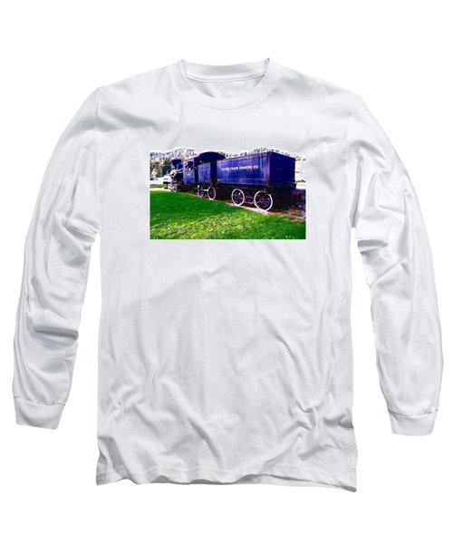 Locomotive Steam Engine Long Sleeve T-Shirt by Sadie Reneau