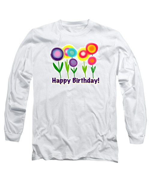 Long Sleeve T-Shirt featuring the digital art Lollipop Flowers  by Christine Fournier