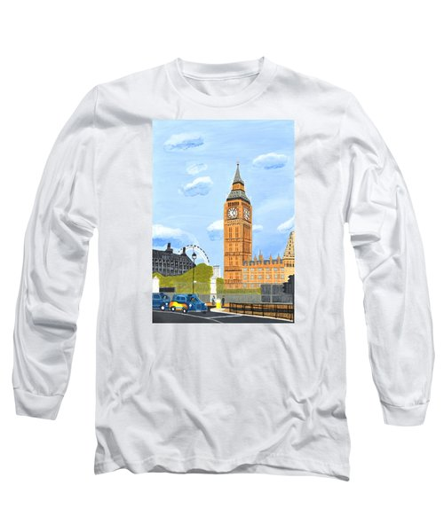 London England Big Ben  Long Sleeve T-Shirt by Magdalena Frohnsdorff