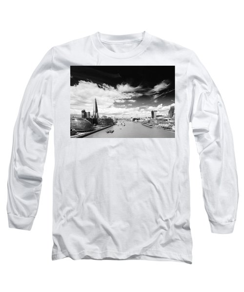 Long Sleeve T-Shirt featuring the photograph London Panorama by Chevy Fleet