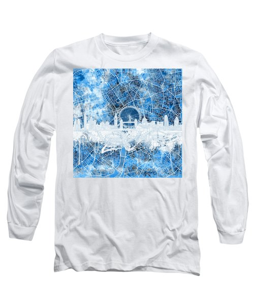 London Skyline Abstract 13 Long Sleeve T-Shirt