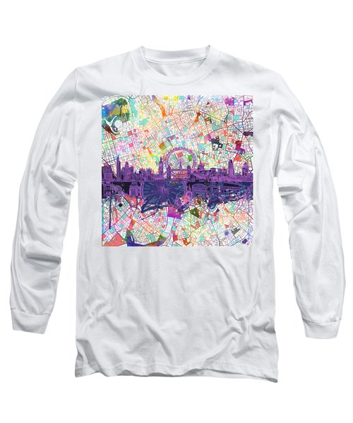 London Skyline Abstract Long Sleeve T-Shirt