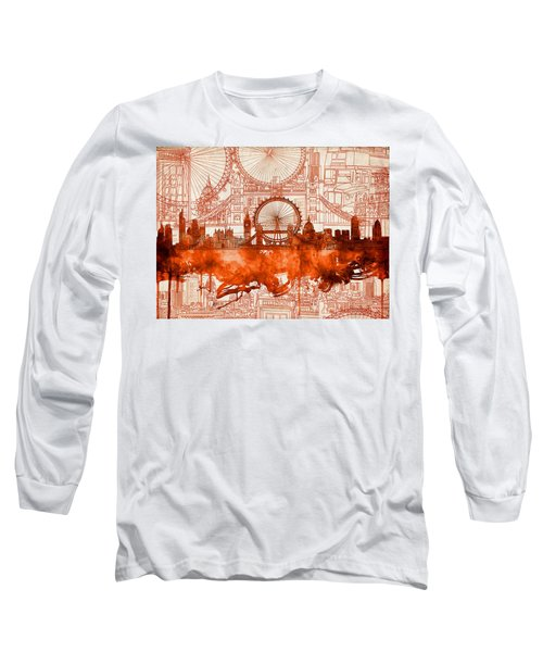 London Skyline Old Vintage 2 Long Sleeve T-Shirt