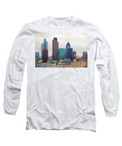 London Skyline Long Sleeve T-Shirt by Ron Harpham