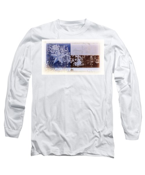 Lone Star Flag Mural Long Sleeve T-Shirt by Nadalyn Larsen