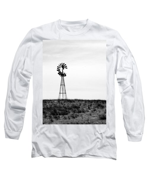 Long Sleeve T-Shirt featuring the photograph Lone Windmill by Cathy Anderson