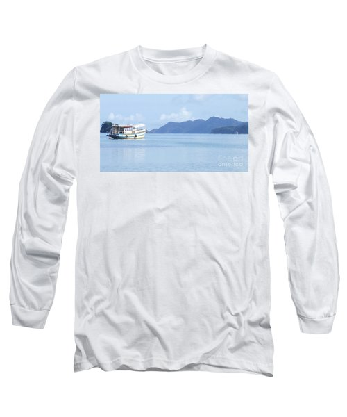 Long Sleeve T-Shirt featuring the photograph Lonely Boat by Andrea Anderegg