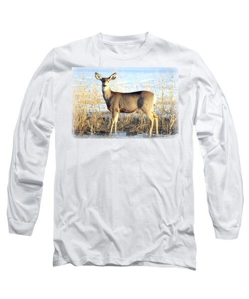 Long Sleeve T-Shirt featuring the photograph Lonesome Doe Sunset by Barbara Chichester