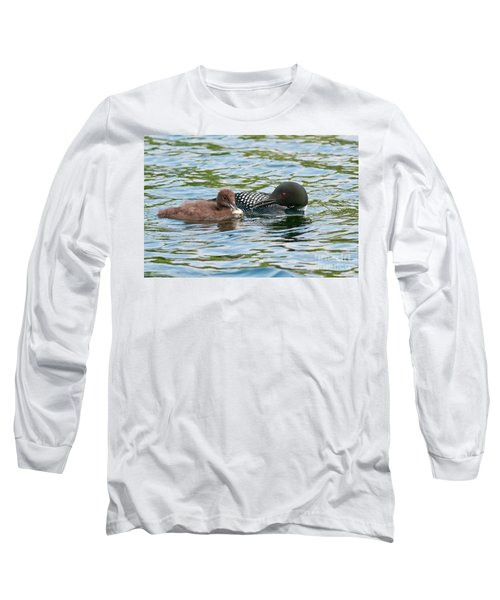 Loon And Baby Long Sleeve T-Shirt