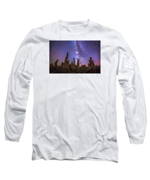 Lost Planet Long Sleeve T-Shirt by Tassanee Angiolillo