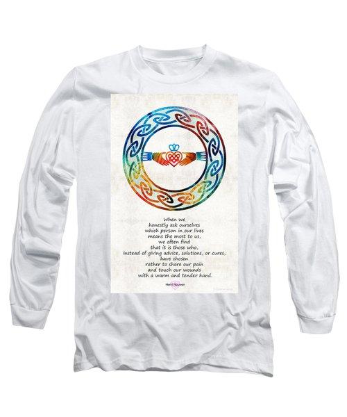 Love And Friendship Art By Sharon Cummings Long Sleeve T-Shirt