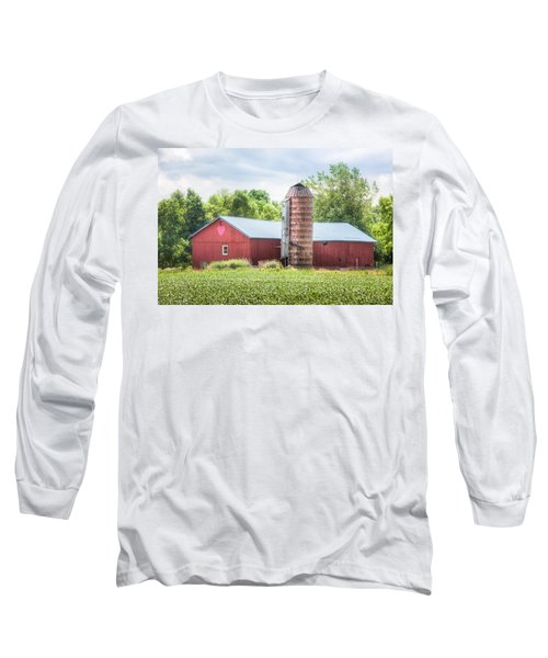 Long Sleeve T-Shirt featuring the photograph Love Barn by Gary Heller