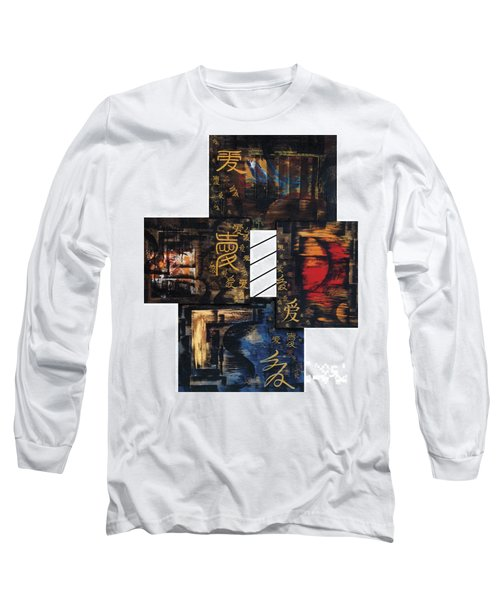 Long Sleeve T-Shirt featuring the painting Love Four Seasons by Fei A