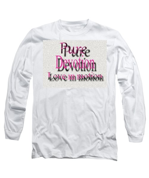 Long Sleeve T-Shirt featuring the digital art Love In Motion by Catherine Lott