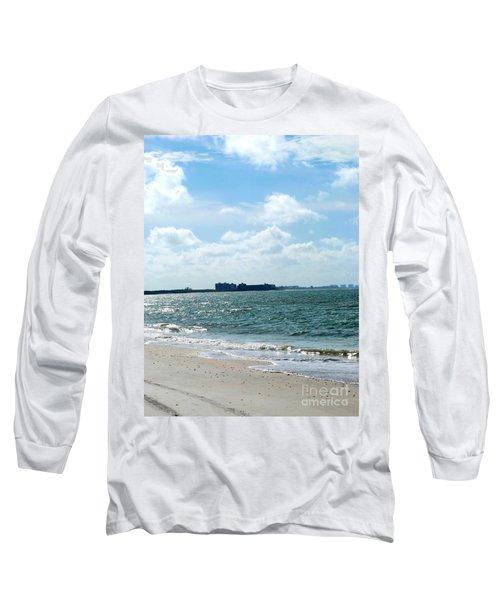Lovers Key Beach Long Sleeve T-Shirt by Oksana Semenchenko