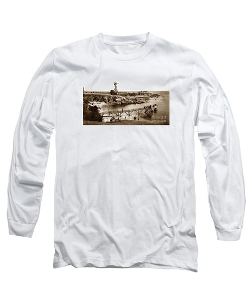 Lovers Point Beach And Old Wooden Pier Pacific Grove August 18 1900 Long Sleeve T-Shirt