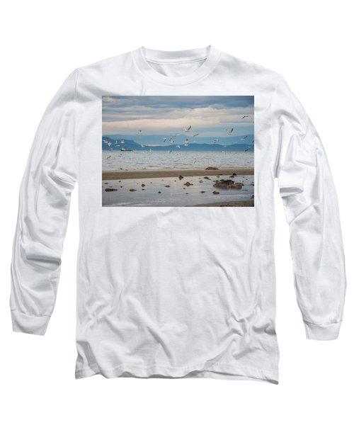 Herring Season  Long Sleeve T-Shirt by Roxy Hurtubise