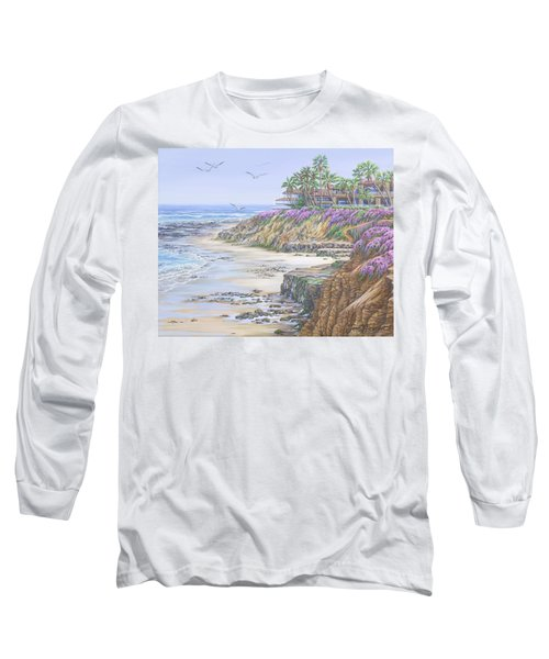 Low Tide Solana Beach Long Sleeve T-Shirt by Jane Girardot