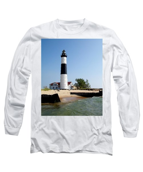 Ludington Michigan's Big Sable Lighthouse Long Sleeve T-Shirt