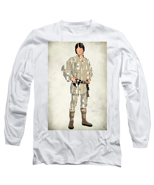Luke Skywalker - Mark Hamill  Long Sleeve T-Shirt by Ayse Deniz