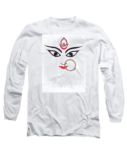 Maa Kali Long Sleeve T-Shirt by Kruti Shah