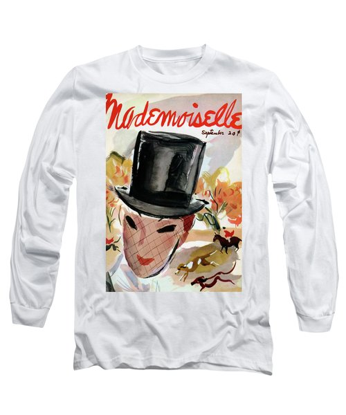 Mademoiselle Cover Featuring A Female Equestrian Long Sleeve T-Shirt