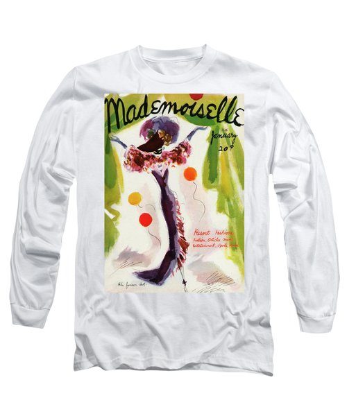 Mademoiselle Cover Featuring A Model Wearing Long Sleeve T-Shirt