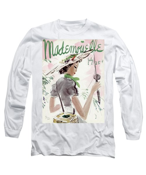 Mademoiselle Cover Featuring A Woman Holding Long Sleeve T-Shirt