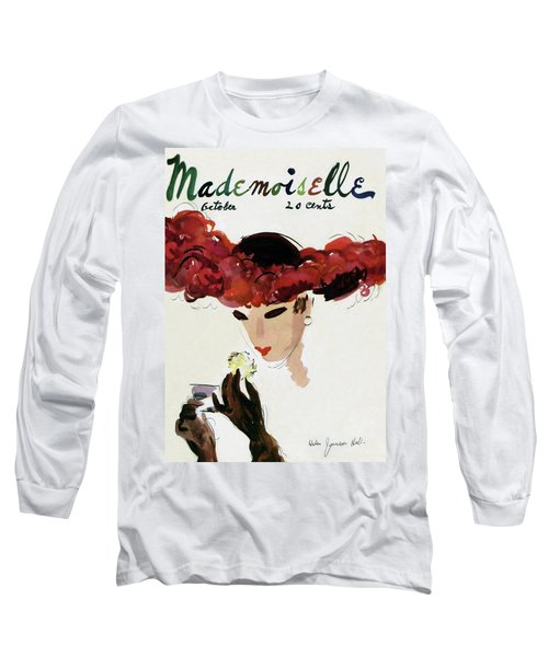 Mademoiselle Cover Featuring A Woman In A Red Long Sleeve T-Shirt