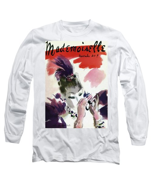Mademoiselle Cover Featuring A Woman Looking Long Sleeve T-Shirt