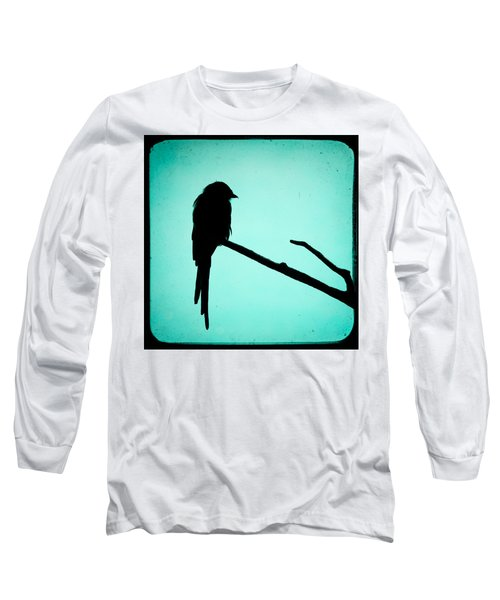 Magpie Shrike Silhouette Long Sleeve T-Shirt by Gary Heller
