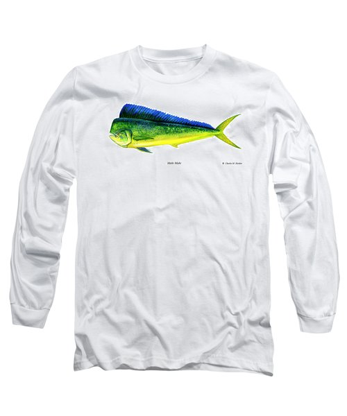 Mahi Mahi Long Sleeve T-Shirt by Charles Harden