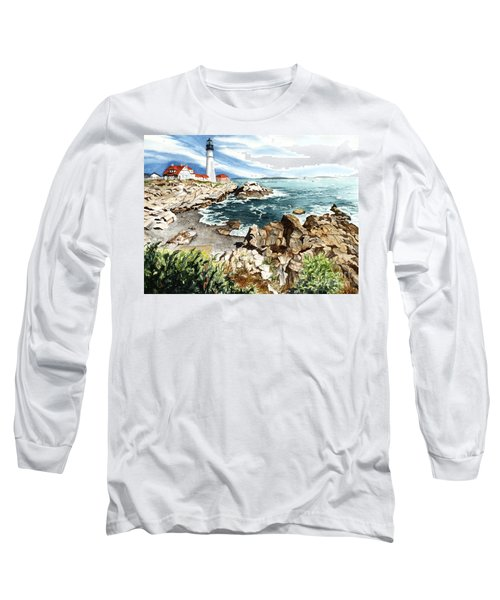 Maine Attraction Long Sleeve T-Shirt by Barbara Jewell