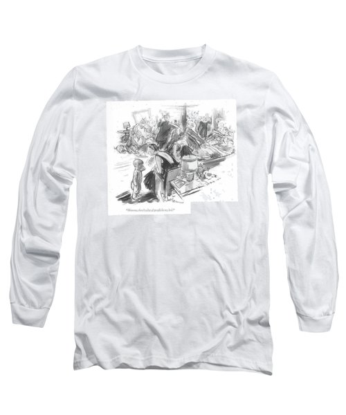 Mamma, There's A Lot Of People In My Bed Long Sleeve T-Shirt