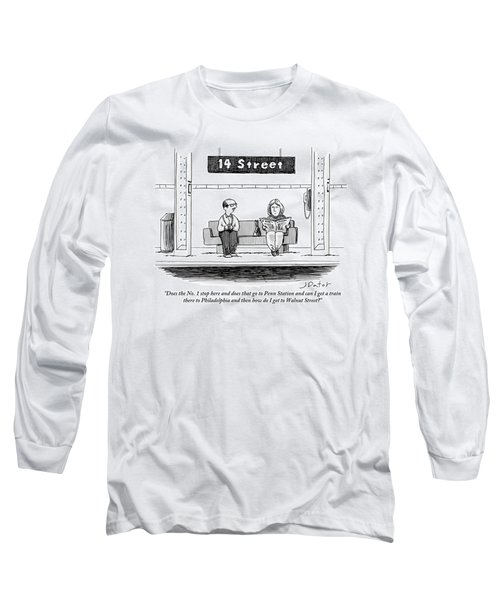 Man Pestering A Woman Who Is Sitting Next Long Sleeve T-Shirt