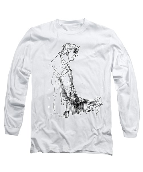 Man Standing Long Sleeve T-Shirt