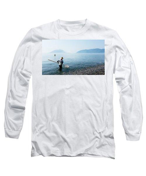Man With A Net Long Sleeve T-Shirt