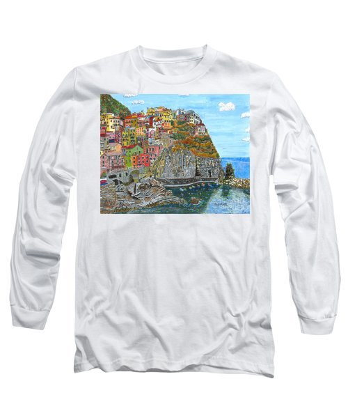 Manarola In Cinque Terra Long Sleeve T-Shirt
