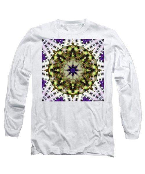 Long Sleeve T-Shirt featuring the digital art Mandala 21 by Terry Reynoldson