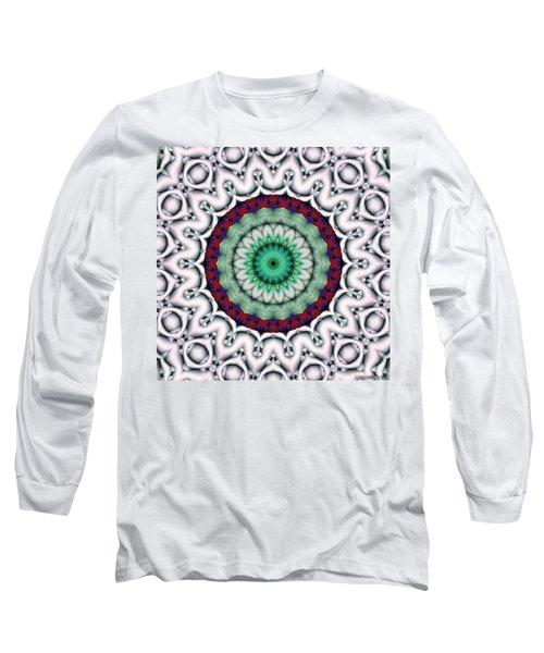 Long Sleeve T-Shirt featuring the digital art Mandala 9 by Terry Reynoldson