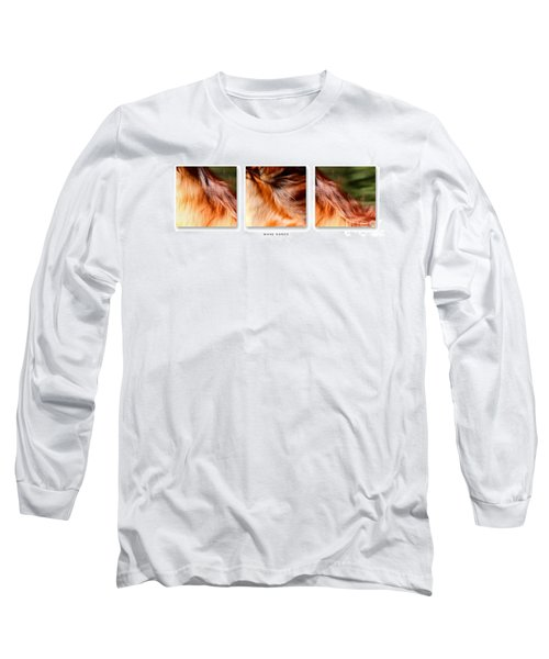 Mane Dance Triptych Long Sleeve T-Shirt by Michelle Twohig